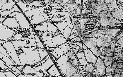 Old map of Backford Cross in 1896