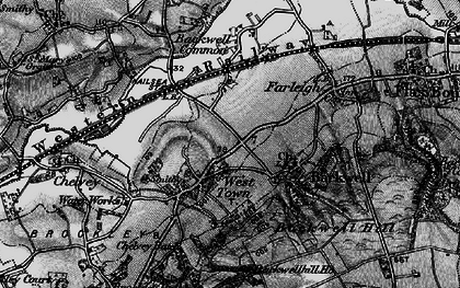 Old map of Backwell in 1898