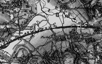 Old map of Backwell Green in 1898