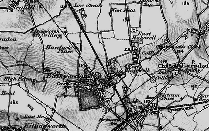 Old map of Backworth in 1897