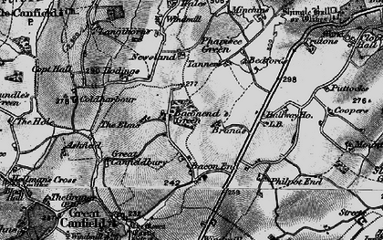 Old map of Baconend Green in 1896