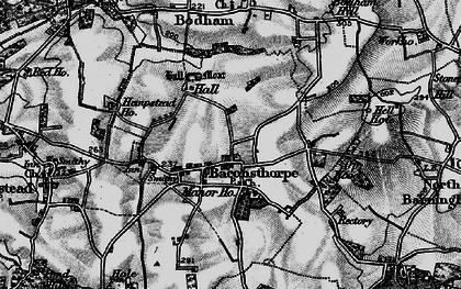 Old map of Baconsthorpe in 1899
