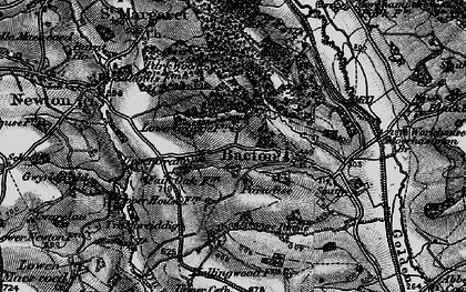 Old map of Bacton in 1896