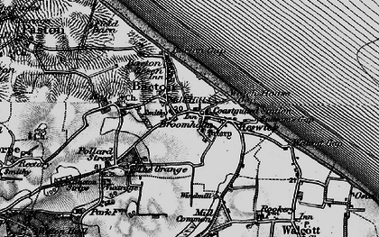 Old map of Bacton in 1898