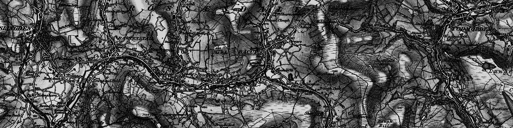 Old map of Bacup in 1896