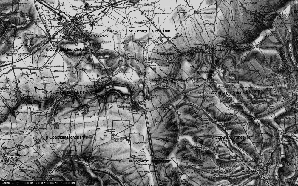 Old Map of Historic Map covering Liddington Castle in 1898