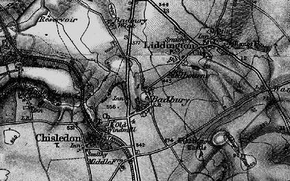 Old map of Liddington Castle in 1898