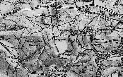 Old map of Badgall in 1895