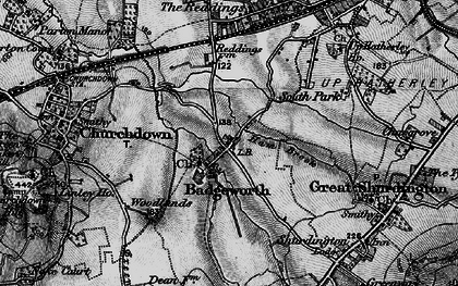 Old map of Badgeworth in 1896