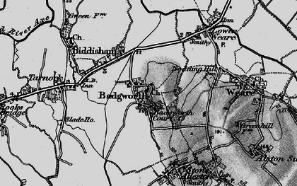 Old map of Badgworth in 1898