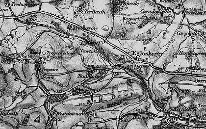 Old map of Badharlick in 1895
