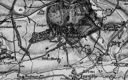 Old map of Badminton in 1898