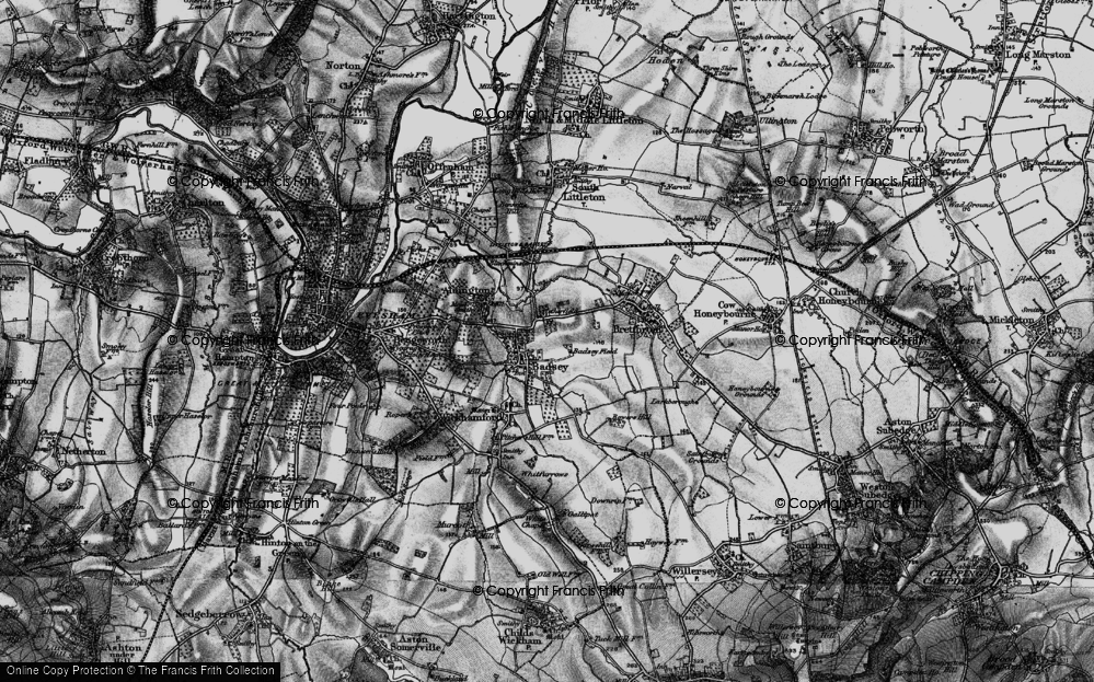 Old Map of Badsey, 1898 in 1898