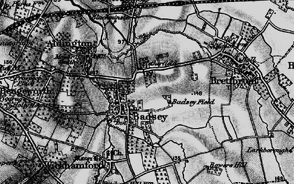 Old map of Badsey in 1898