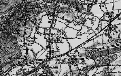Old map of Badshot Lea in 1895