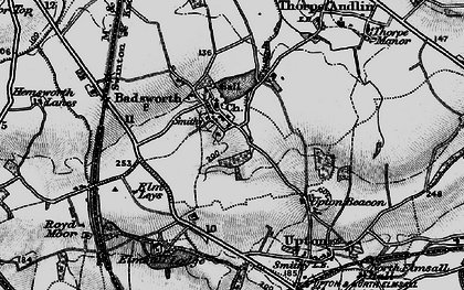 Old map of Badsworth in 1896