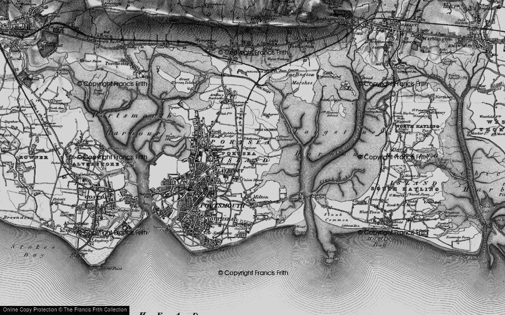Old Map of Baffins, 1895 in 1895