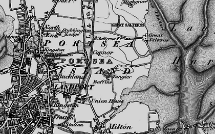 Old map of Baffins in 1895