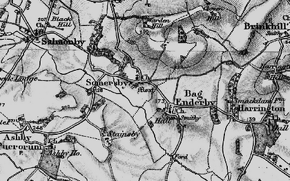 Old map of Bag Enderby in 1899