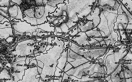 Old map of Bagber in 1898