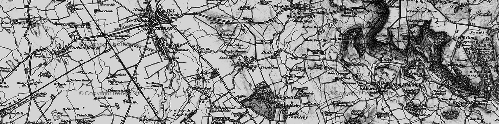 Old map of Abbot's Close in 1898