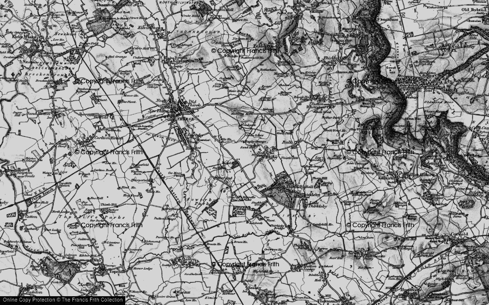 Old Map of Historic Map covering Woodcock in 1898