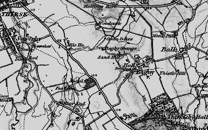 Old map of Bagby Grange in 1898