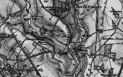 Old map of Bagendon in 1896