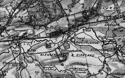 Old map of Baggrow in 1897