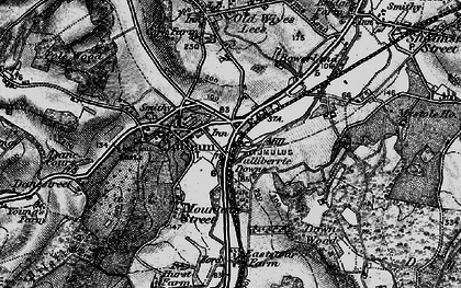 Old map of Bagham in 1895