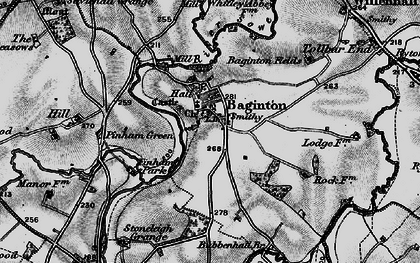 Old map of Baginton in 1899