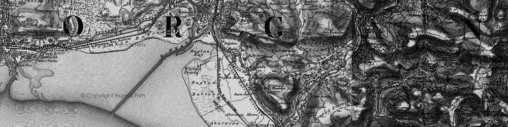 Old map of Baglan in 1897