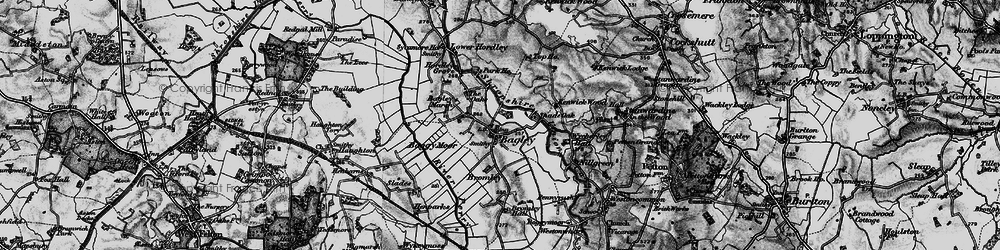 Old map of Whinnet Hill in 1897