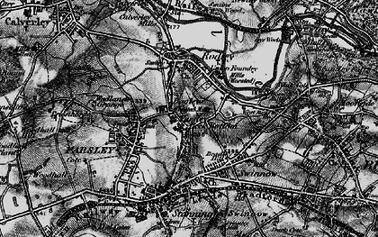 Old map of Bagley in 1898