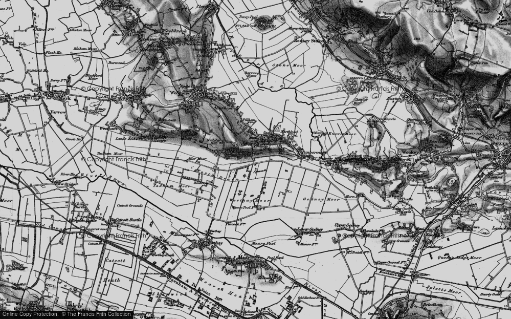 Old Map of Bagley, 1898 in 1898
