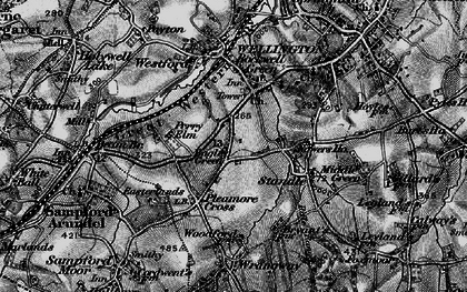 Old map of Bagley Green in 1898