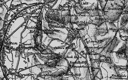 Old map of Baddeley Edge in 1897