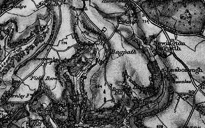 Old map of Bagpath in 1897