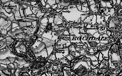 Old map of Bagslate Moor in 1896