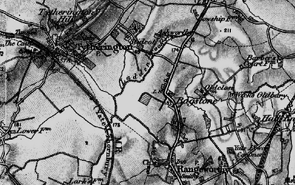 Old map of Bagstone in 1897