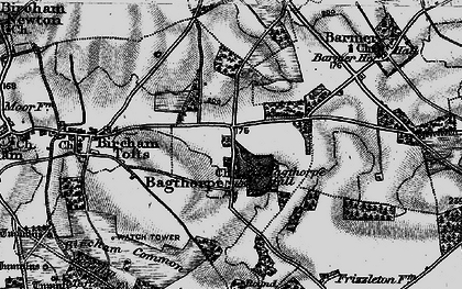 Old map of Bagthorpe in 1898