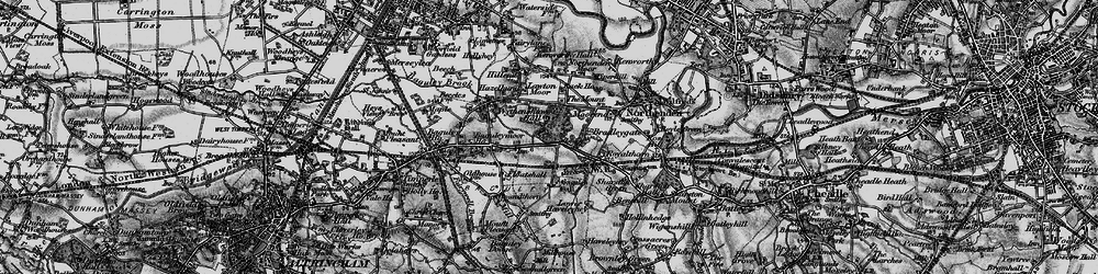 Old map of Wythenshawe Hall in 1896