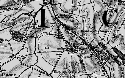Old map of Bagworth in 1895