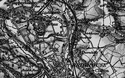 Old map of Bailiff Bridge in 1896