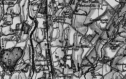 Old map of Bailrigg in 1898