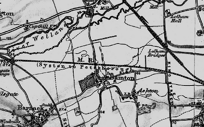 Old map of Bainton in 1895