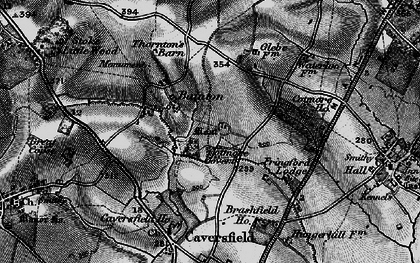 Old map of Bainton in 1896