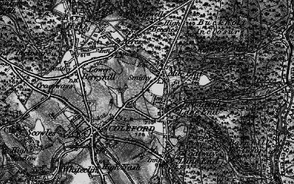 Old map of Baker's Hill in 1896
