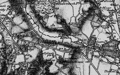 Old map of Baker's Wood in 1896