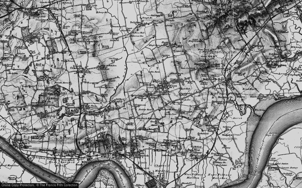 Old Map of Baker Street, 1896 in 1896